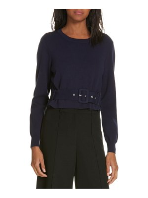 Milly belted puff sleeve sweater