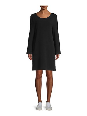 Milly button sleeve dress