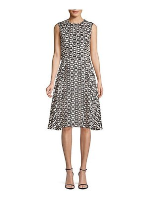 Milly chain print sleeveless dress