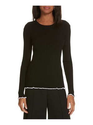 Milly contrast edge pullover sweater