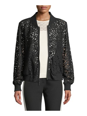 Milly Floral Lace Bomber Jacket