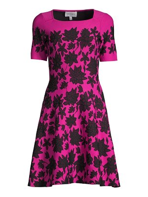 Milly floral lace jacquard dress