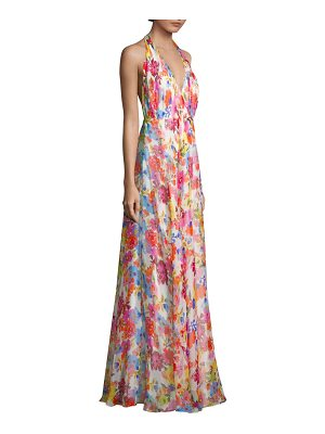 Milly georgina floral print maxi dress