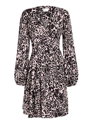 Milly gina leopard flare dress