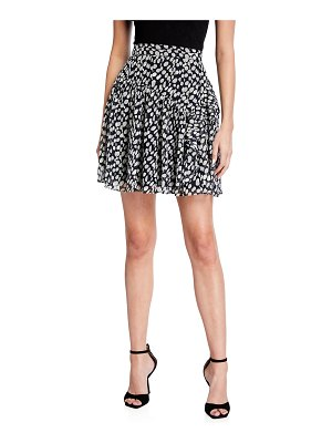 Milly Heidi Abstract Dot Burnout Mini Skirt
