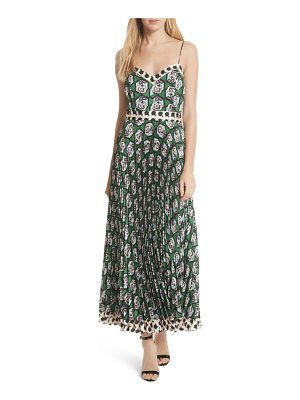 Milly jill hexagon floral print maxi dress
