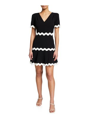 Milly Josephine Cady Ricrac-Trim Dress