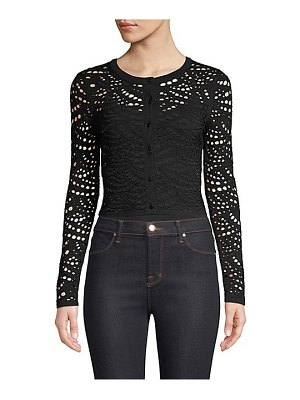 Milly lace pointelle cardigan