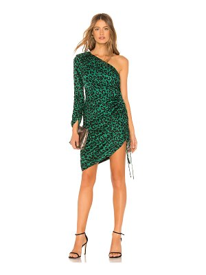 Milly Leopard Print Jacquard Dress