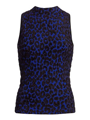 Milly leopard-print sleeveless top