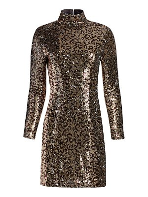 Milly leopard sequin bodycon mini dress