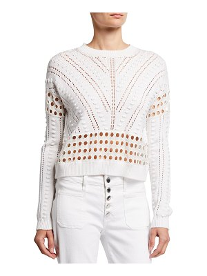 Milly Minis Eyelet Pointelle-Knit Bobble Sweater