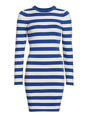 Milly puff sleeve striped t-shirt dress