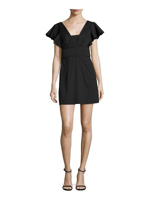 Milly Stretch-Cotton Poplin Deni Dress