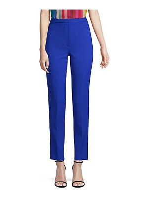 Milly stretch crepe high-waist pants