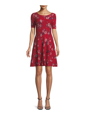 Milly Twilight Floral-Print Fit-and-Flare Dress