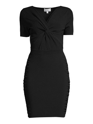 Milly twist-front short-sleeve dress