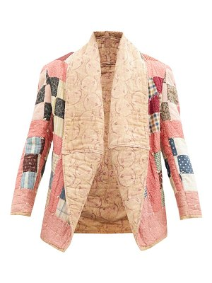 Mimi Prober abbey patchwork quilted upcycled cotton jacket