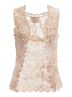 Mimi Prober antionette upcycled cotton-lace top