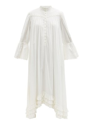 Mimi Prober bronte lace-trimmed organic-cotton shirt dress