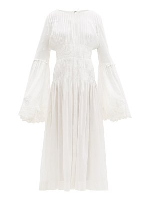 Mimi Prober lucy embroidered organic cotton-voile dress