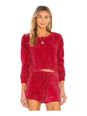 Mina Lisa chenille cropped pullover