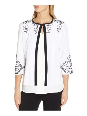 Ming Wang embroidered jacket