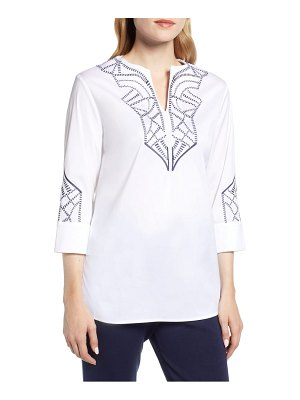 Ming Wang embroidered tunic