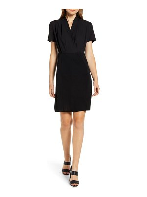 Ming Wang faux wrap sheath dress
