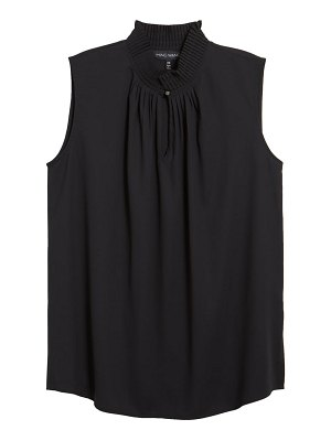 Ming Wang ming want pleated neck sleeveless blouse