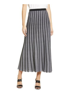 Ming Wang pleated pull-on skirt