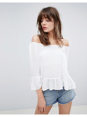 Minimum Off The Shoulder Top With Fluted Sleeve