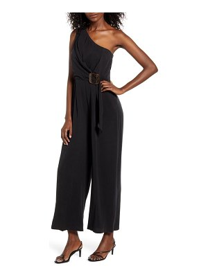 MINKPINK buckle waist one-shoulder jumpsuit