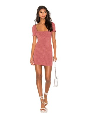 MINKPINK cherry button front dress