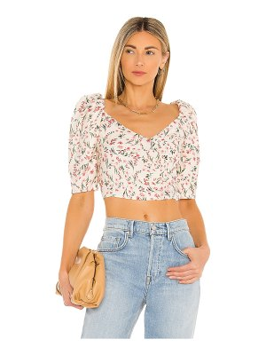 MINKPINK kacey ruched cross over top
