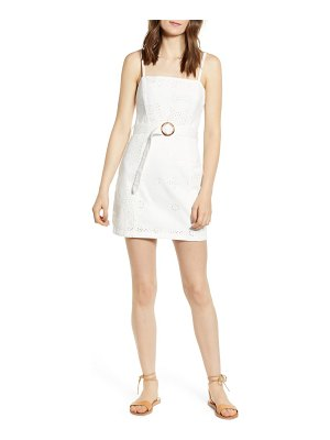 MINKPINK to the coast broderie anglaise minidress