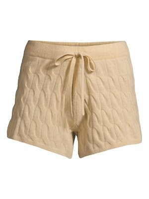 Minnie Rose cable-knit shorts