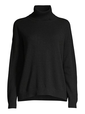 Minnie Rose cashmere open-back turtleneck sweater
