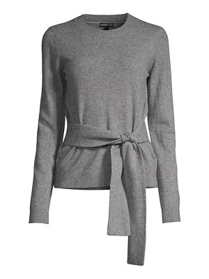 Minnie Rose cashmere tie-waist knit sweater