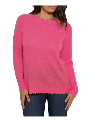 Minnie Rose distressed knit cashmere sweater