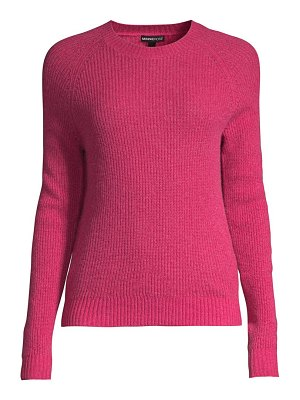 Minnie Rose shaker stitch cashmere crewneck sweater