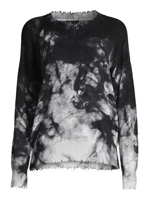 Minnie Rose tie-dye distressed crewneck sweatshirt