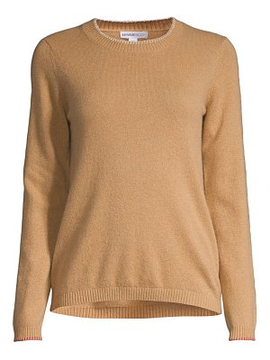 Minnie Rose whipstitch cashmere knit sweater