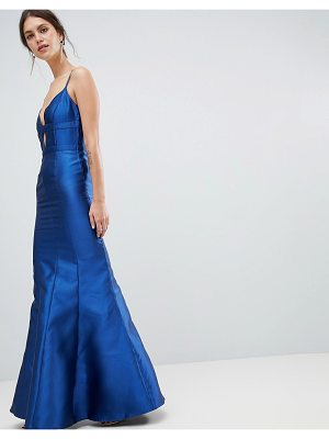 Minuet fishtail maxi dress with cut out detail-navy