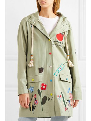 Mira Mikati embroidered cotton-twill jacket