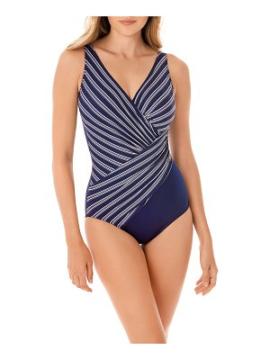 Miraclesuit Belmont Stripe Oceanus One-Piece Swimsuit