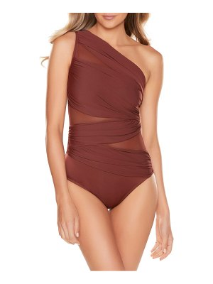 Miraclesuit miraclesuit jena one-shoulder one-piece swimsuit