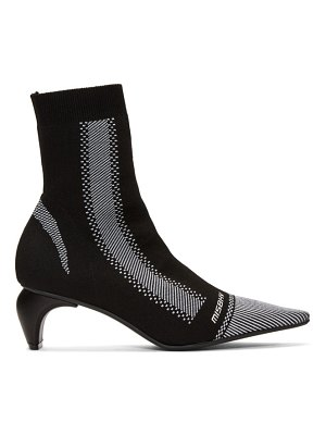 Misbhv black and white active square ankle boots