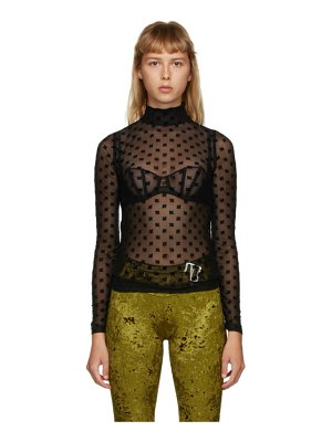 Misbhv monogram mesh turtleneck