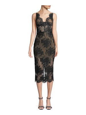 Misha Collection Finley Sheer Floral Lace Dress